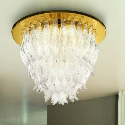 PETALI 8002/PL60 Ceiling lamp in Murano glass