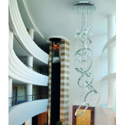 FEDI 9255/S Suspension lamp with lead crystal