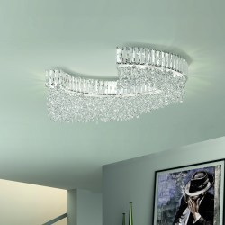 DIADEMA 9260/PL70 Ceiling lamp with lead crystal