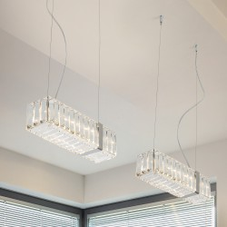 NEW YORK 9282/S30 Suspension lamp with crystal pendants