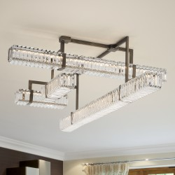 NEW YORK 9280/120 Ceiling lamp with crystal pendants