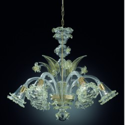 "Chandelier ""Giudecca"" in original Murano blown glass"