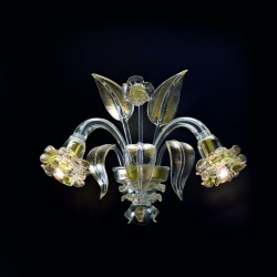 "Wall lamp ""Giudecca"" in original Murano blown glass"