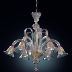 "Chandelier ""Arsenale"" in original Murano blown glass"