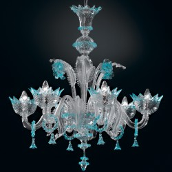 "Chandelier ""Veneziano"" in genuine Murano blown glass"