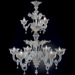 "Chandelier ""Veneziano"" in genuine artistic Murano glass"