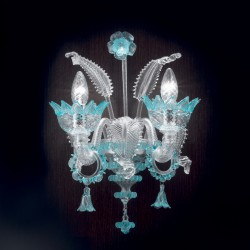 "Wall lamp ""Veneziano"" in genuine Murano blown glass"