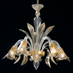 "Chandelier ""Laguna"" in genuine Murano blown glass"