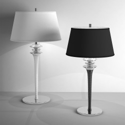 Table lamp Agata with fabric shade