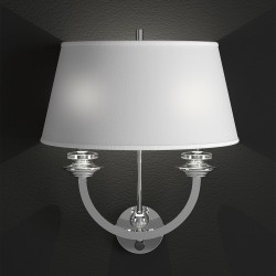 Wall lamp Agata with fabric shade