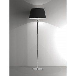 Floor lamp Agata with fabric shade