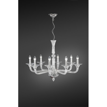 Crystal chandelier in different colors