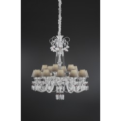 Crystal chandelier Chanel with Swarovski Elements and fabric shade