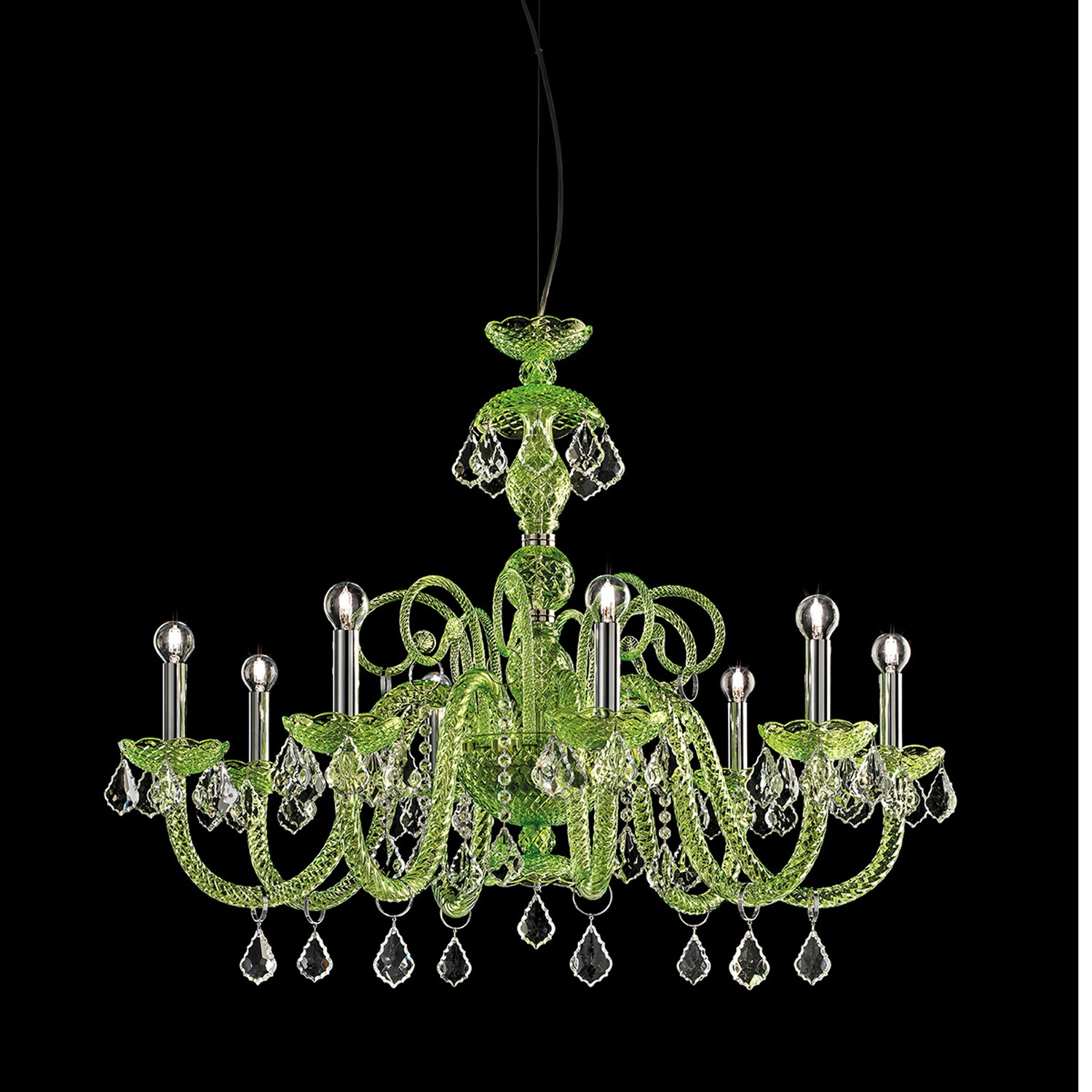 a csk venetian green chandelier chandel by venini circa glass probably lot lotfinder details