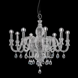 Crystal engraved glass chandelier 286 with Swarovski Elements