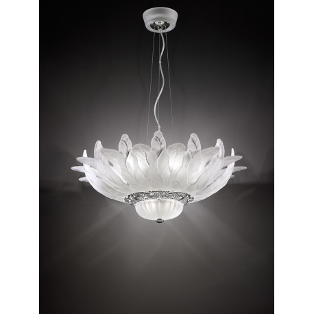 Attractive Italamp Opera Chandelier with glass leaves 50 / 70-3C RZ54