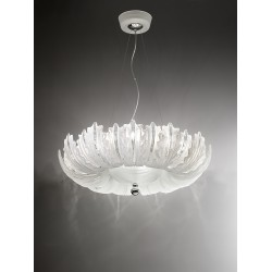 Chandelier with glass leaves 74/80/3C