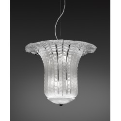 Chandelier with glass leaves 667/50