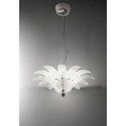 Chandelier with glass leaves 60/55/3C