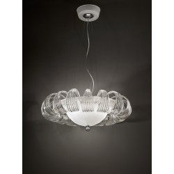 Chandelier with glass leaves 81/65-3C