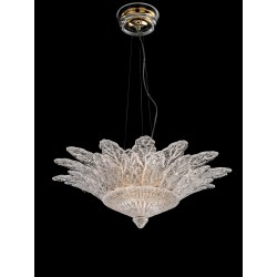 Chandelier with glass leaves 73/70-3C