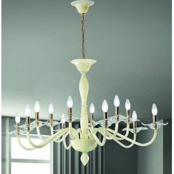 Murano artistic glass chandelier 1186/6+6