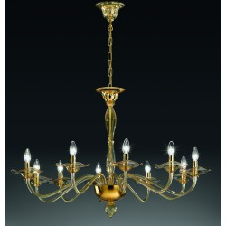 Murano artistic glass chandelier 1186/10