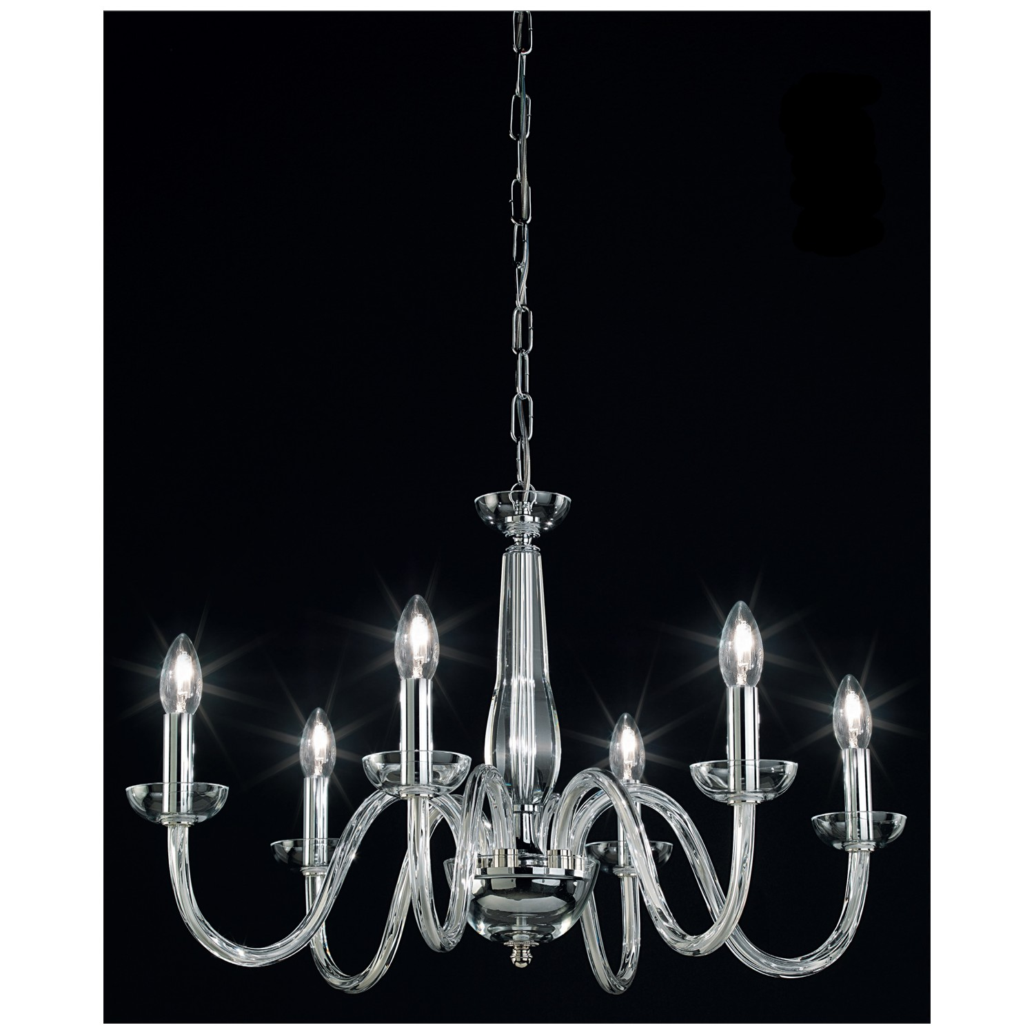 Or blown glass chandelier 101 6 Blown glass chandelier