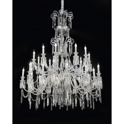 Chandelier with glass pendants 474/30/CR/VT