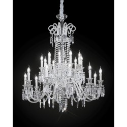 Chandelier with glass pendants 474/10+10/CR/VT