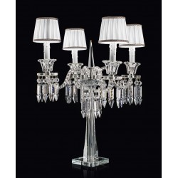 Table lamp with glass pendants 474/FL4/CR/VT+PA