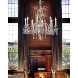 Chandelier with glass pendants 474/8/CR/VT