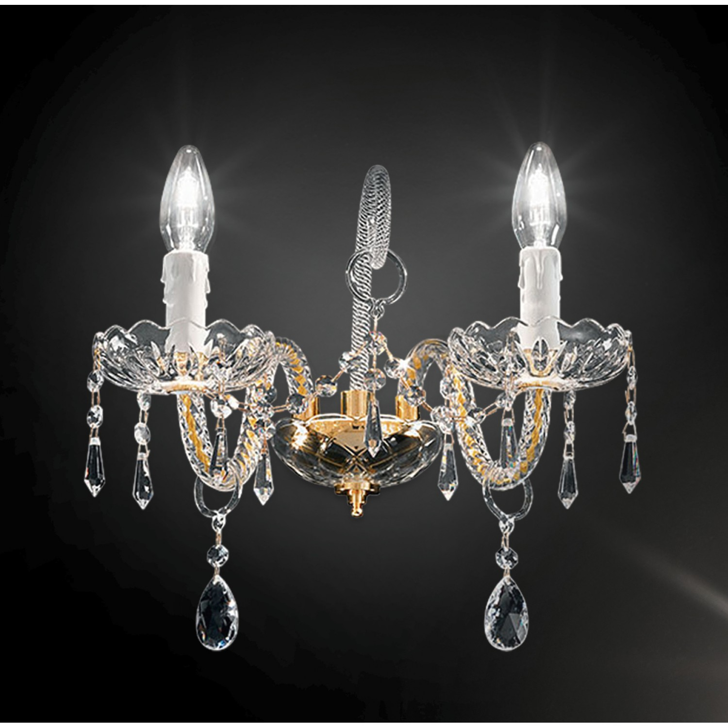 Asfour crystal wall lamp 408a2olasf artital lighting home design asfour crystal wall lamp 408a2olasf aloadofball