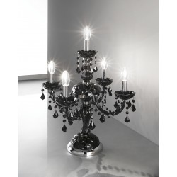 Lead crystal wall lamp 454/A2/CR/TC ROSSO