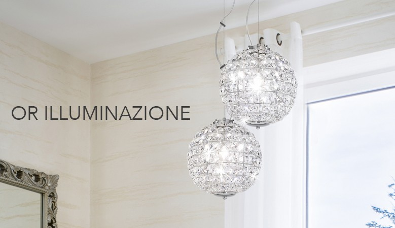 Collections of Swarovski crystal chandeliers, Asfour and Murano glass. Elegant wall lamps or refined table lamps.